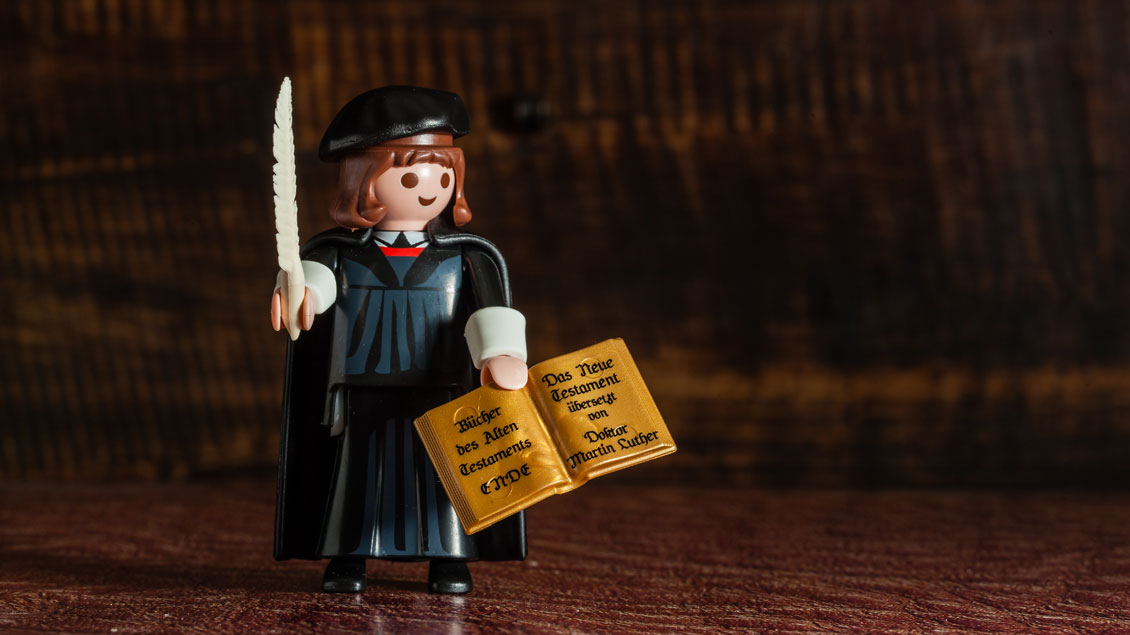 Martin Luther als Playmobil-Figur. Foto: Christof Haverkamp