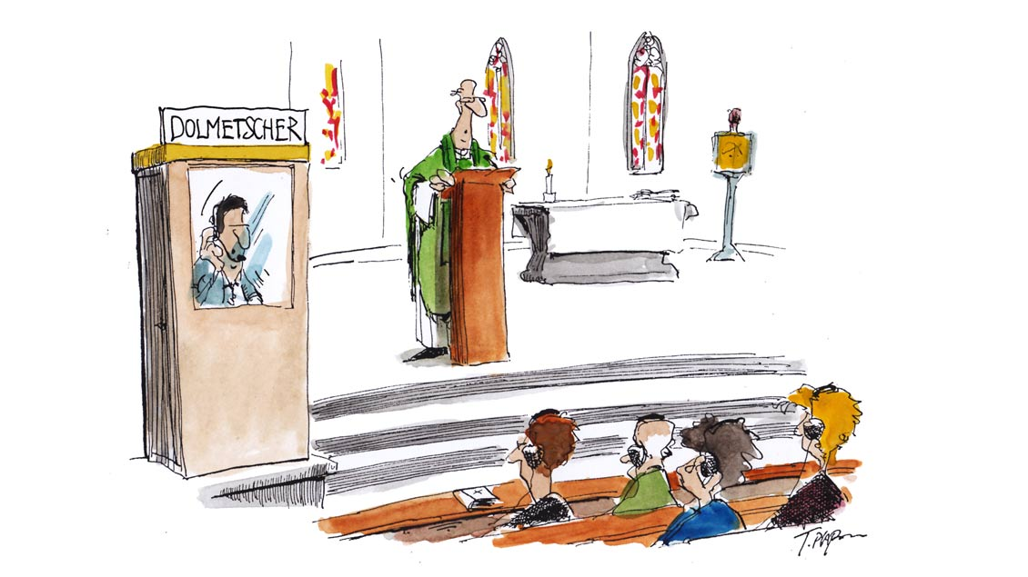 Karikatur von Thomas Plassmann.