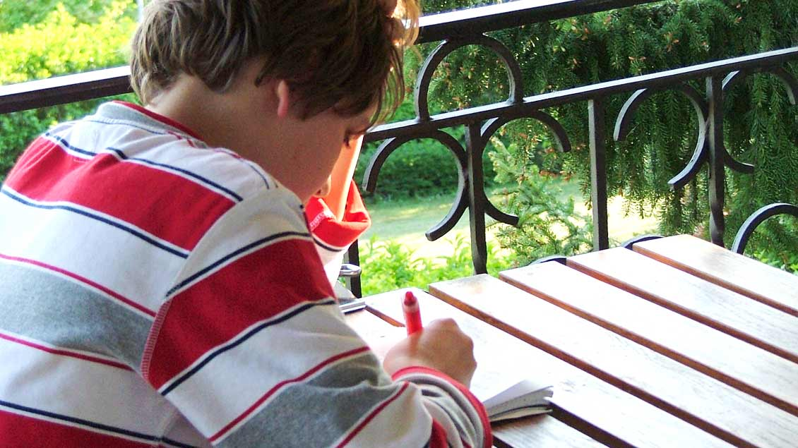 Viele Schüler lernen in den Ferien.