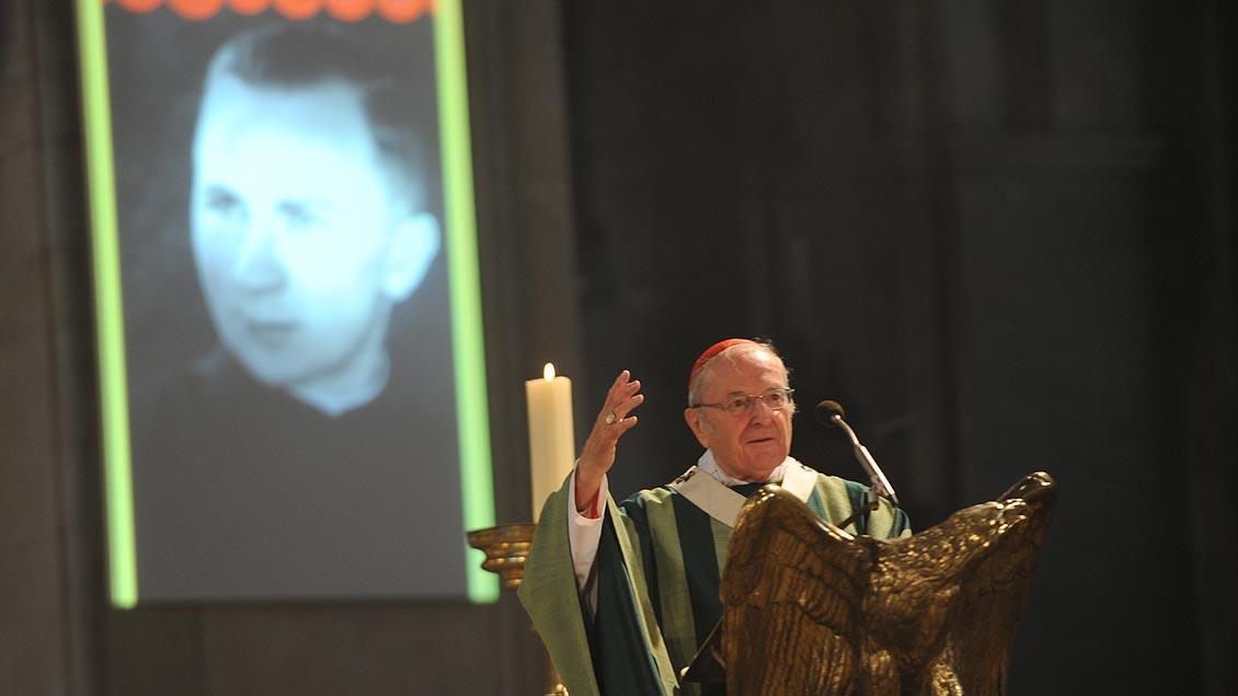 Predigt im St.-Paulus-Dom in Münster während der Seligsprechung von Kaplan Gerhard Hirschfelder im Jahr 2010. | Foto: Michael Bönte