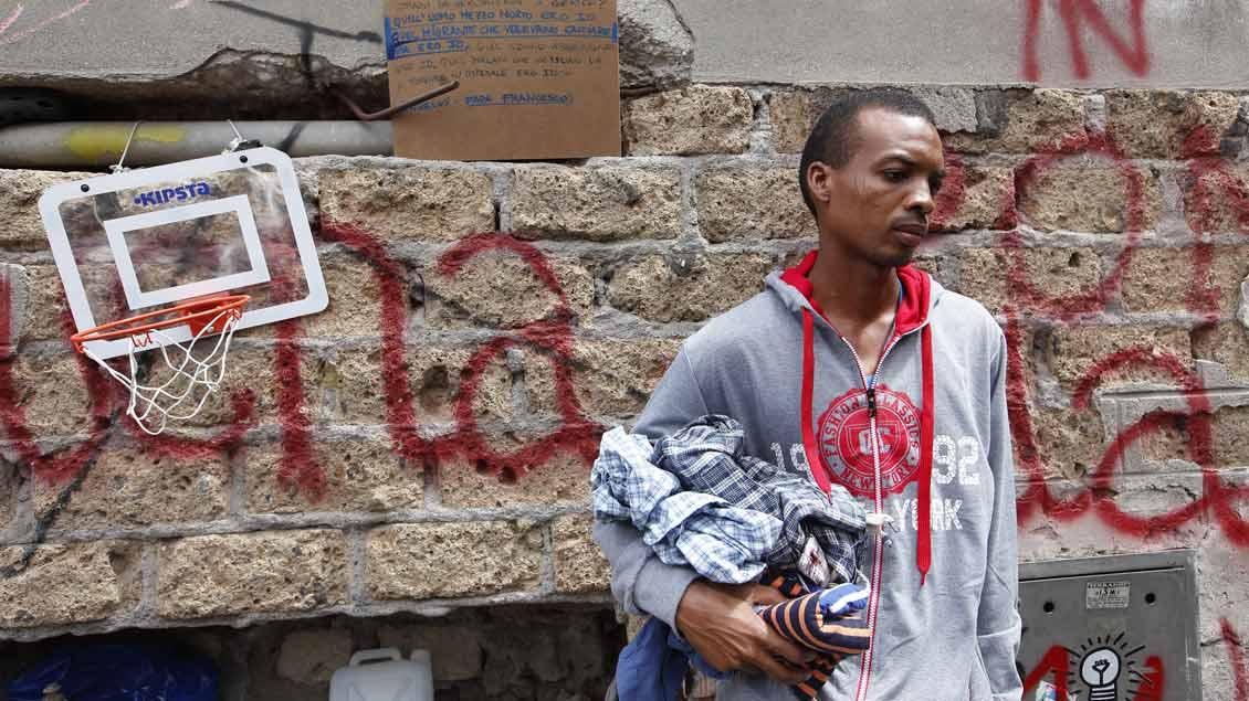 Dieser Mann flüchtete im Juli 2016 aus dem Sudan nach Rom.