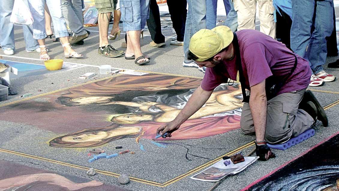 Christliche Straßenmaler.