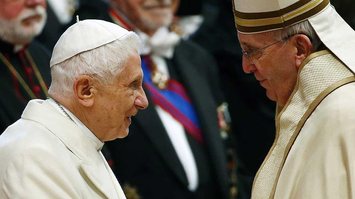 Benedikt und Franziskus Foto: Reuters