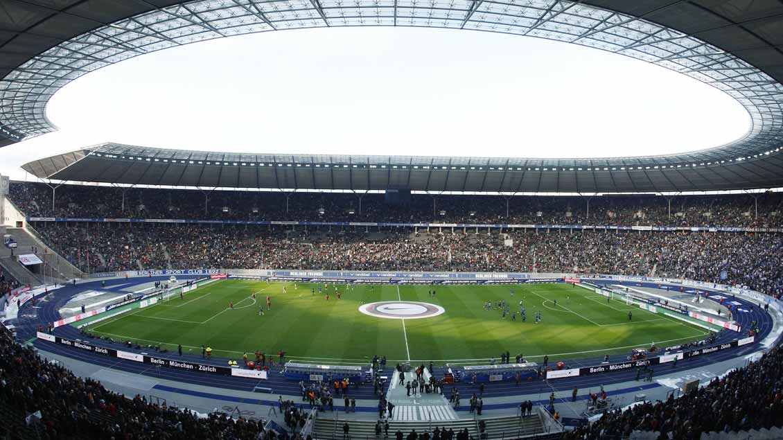Blick ins Olympia-Stadion in Berlin.