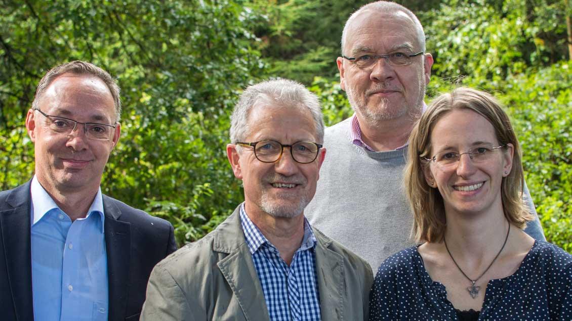 Thomas Wonnemann, Hans Krautwurst-Rusch, Martin Wennekers und Sabine Treffer.