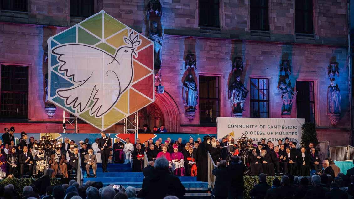 Friedensappell in Osnabrückbeendet Weltfriedenstreffen