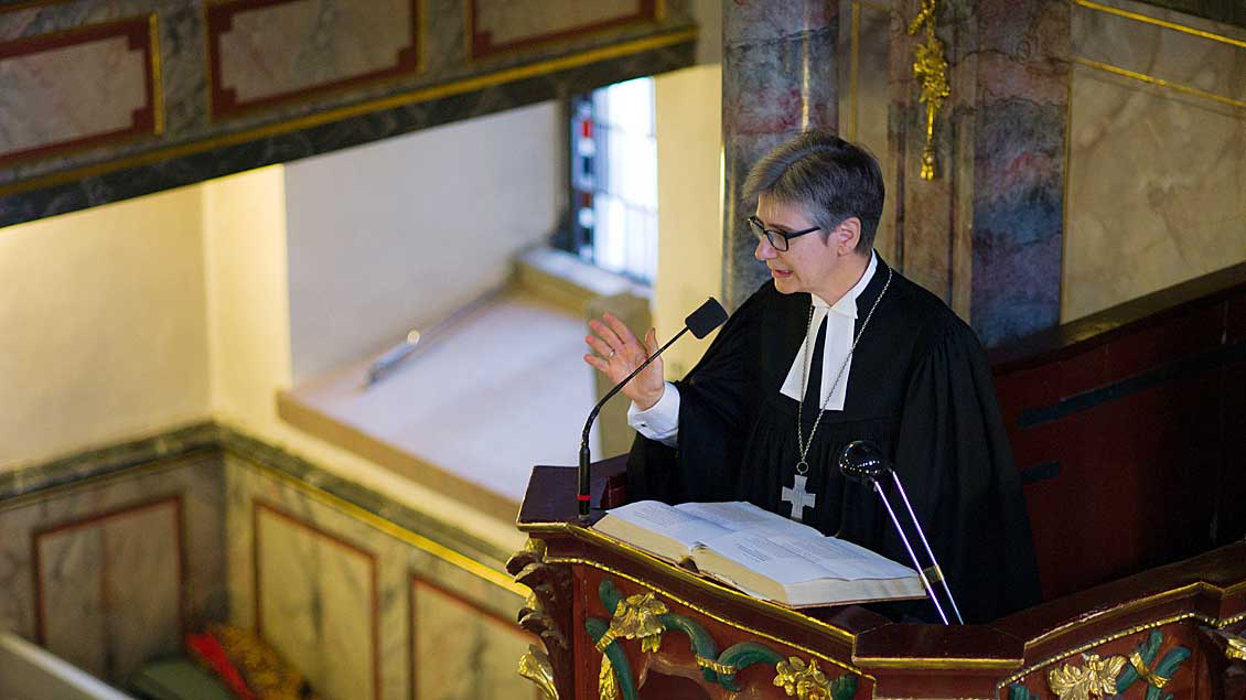 Petra Reitz bei ihrer Amtseinführung.