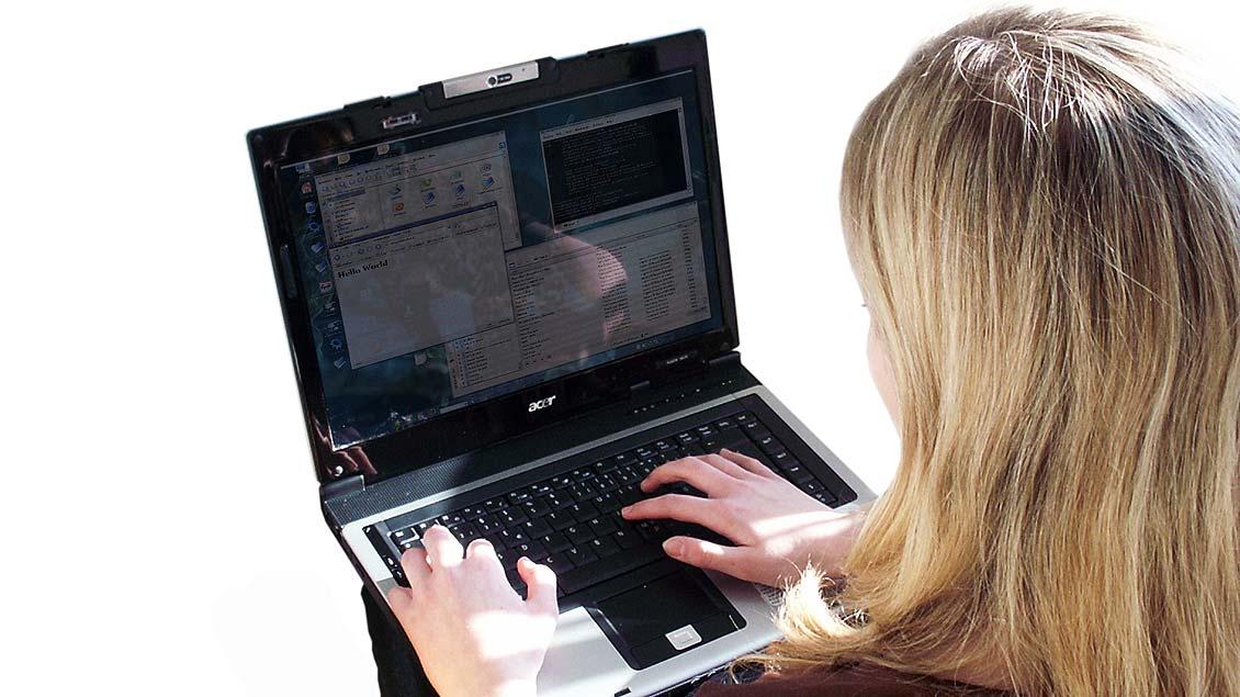 Laptops sind aus dem Unterricht an der Hildegardisschule Münster nicht mehr wegzudenken.