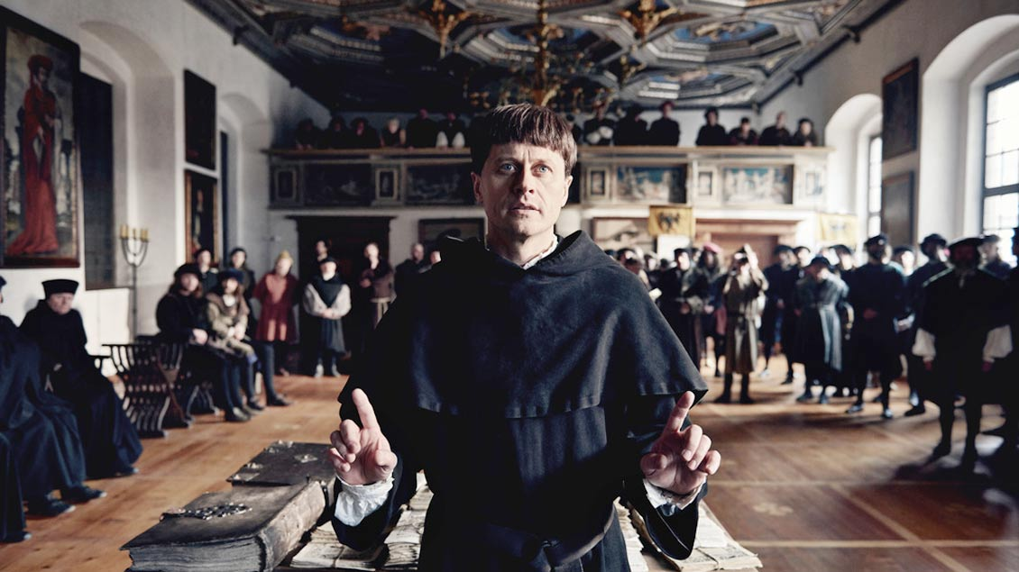 "Szene aus dem Dokudrama ""Das Luther-Tribunal. Zehn Tage im April"""