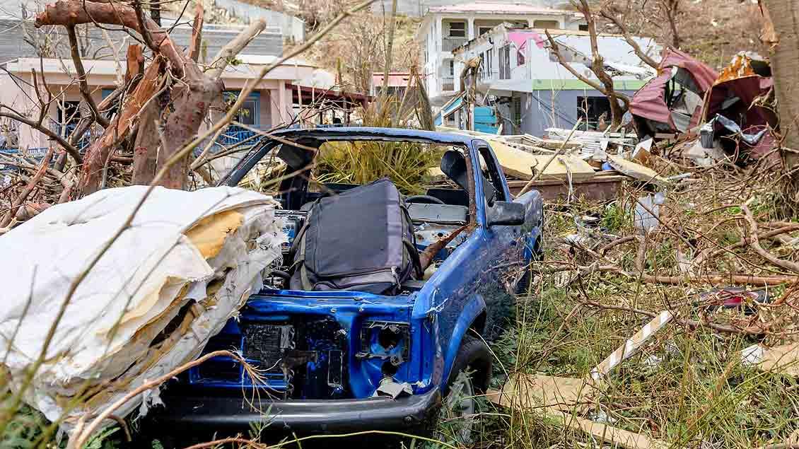 """Verheerende Schäden richtete """"Irma"""" am Wochenende auf den Britischen Jungferninseln an."""