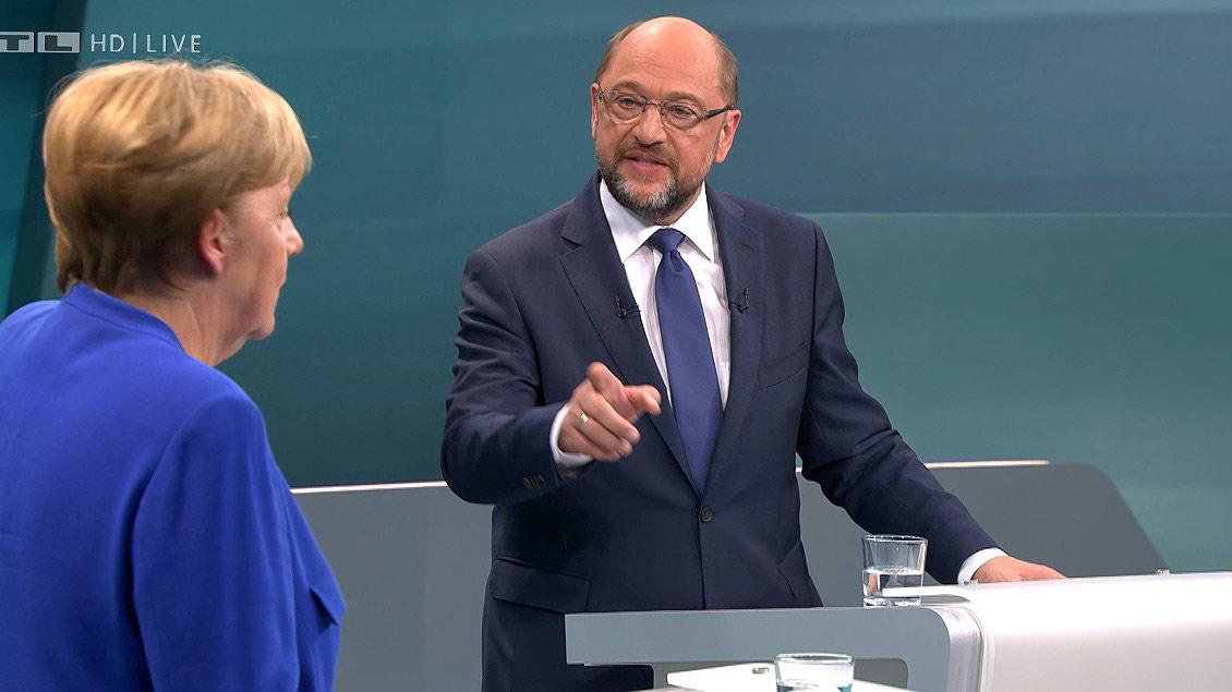 Eine respektvolle demokratische Streitkultur wie im TV-Duell zwischen Bundeskanzlerin Angela Merkel (CDU) und Kanzlerkandidat Martin Schulz (SPD) wünschen sich die Kirchen auch nach der Wahl.