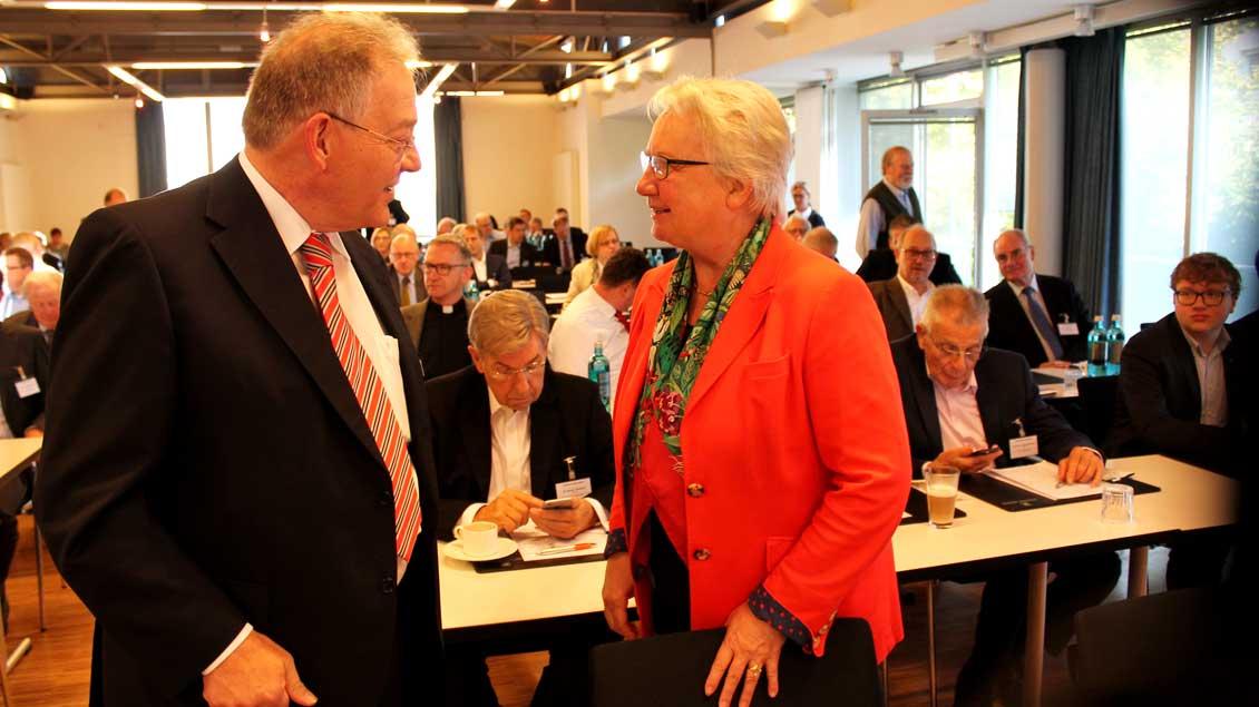 Annette Schavan und Ulrich Hemel.