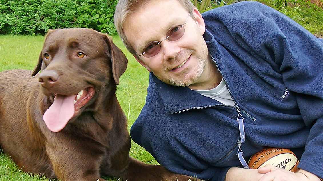 Blum mit Hund