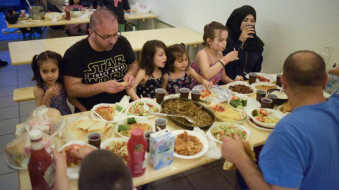 Familie aus Syrien.