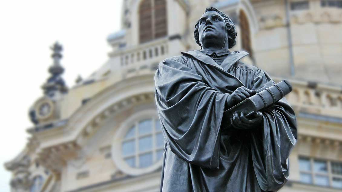 Statue des Reformators Martin Luther