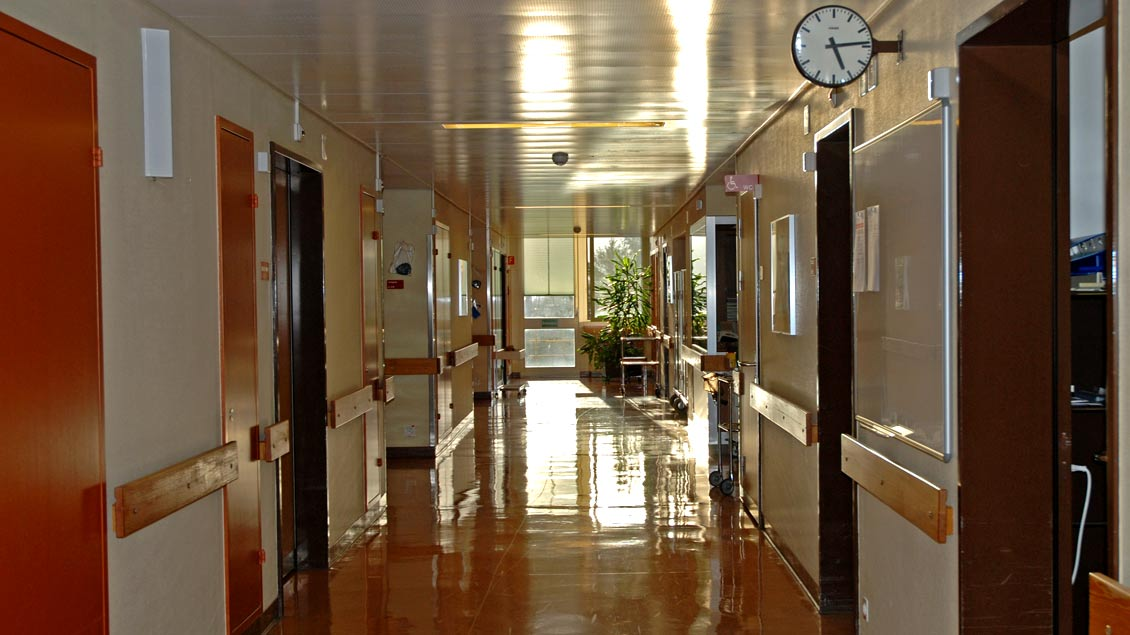 Ein leerer Krankenhausflug