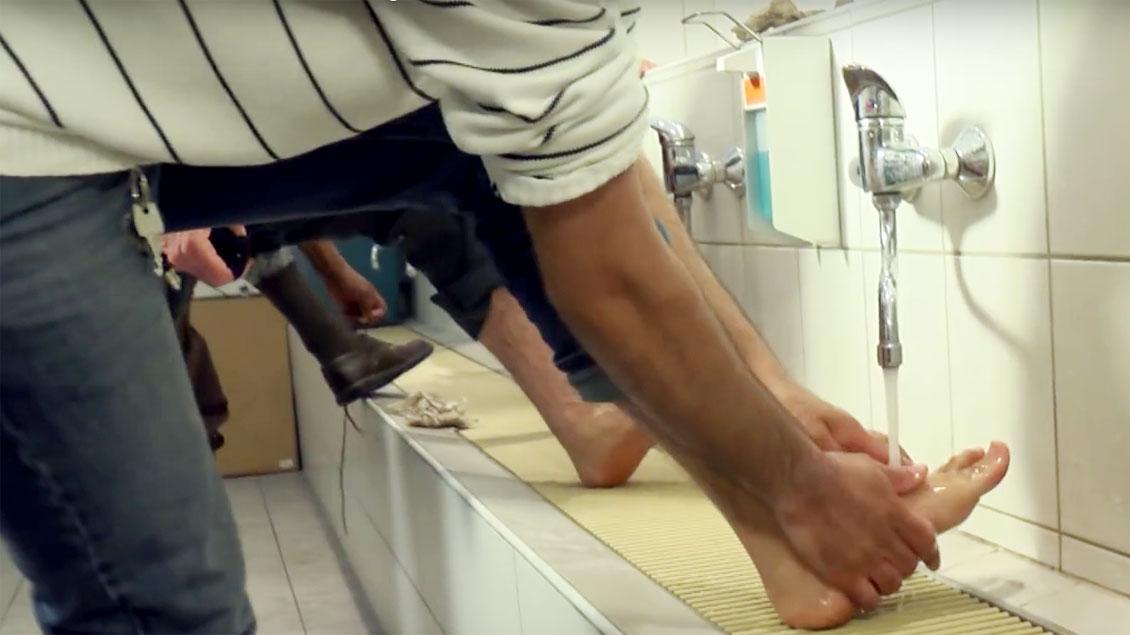 Fußwaschung.