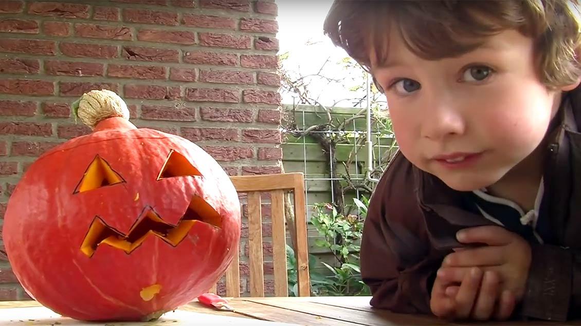 Halloween-Kürbis.