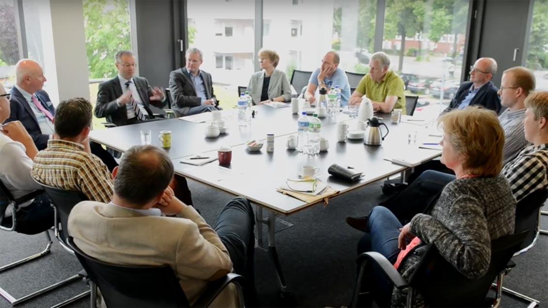 Der Generalvikar Norbert Köster war zu Besuch in der Kirche+Leben Redaktion.