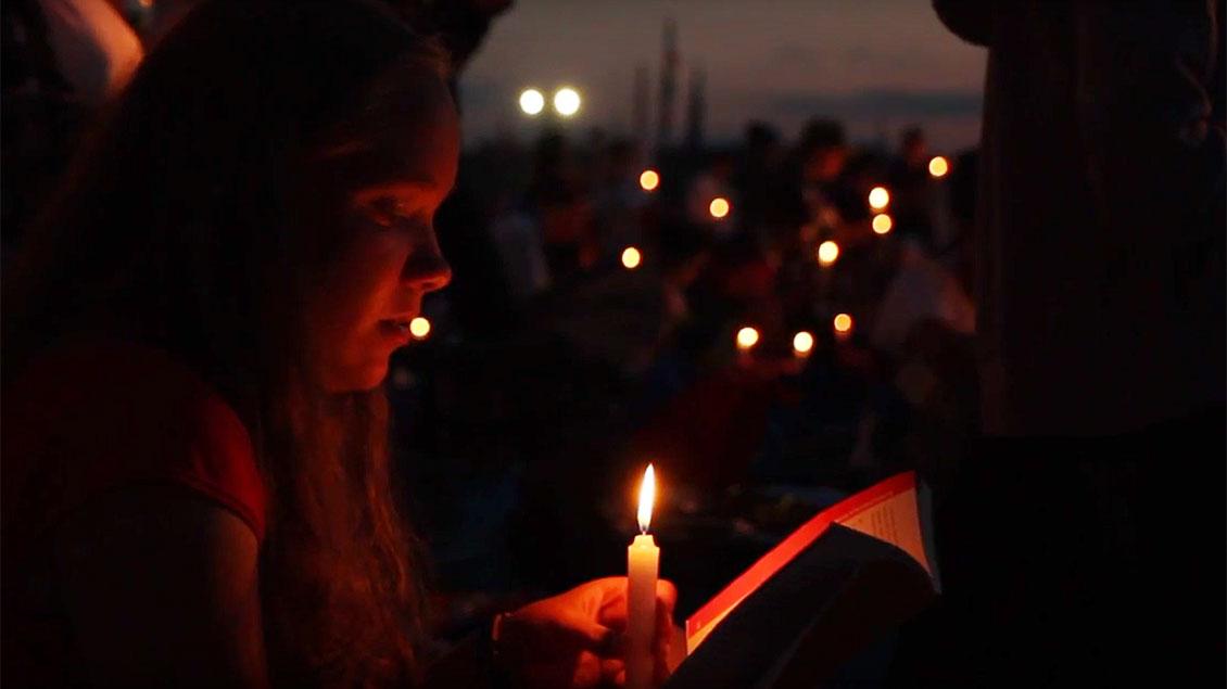 Vigil beim Weltjugendtag.