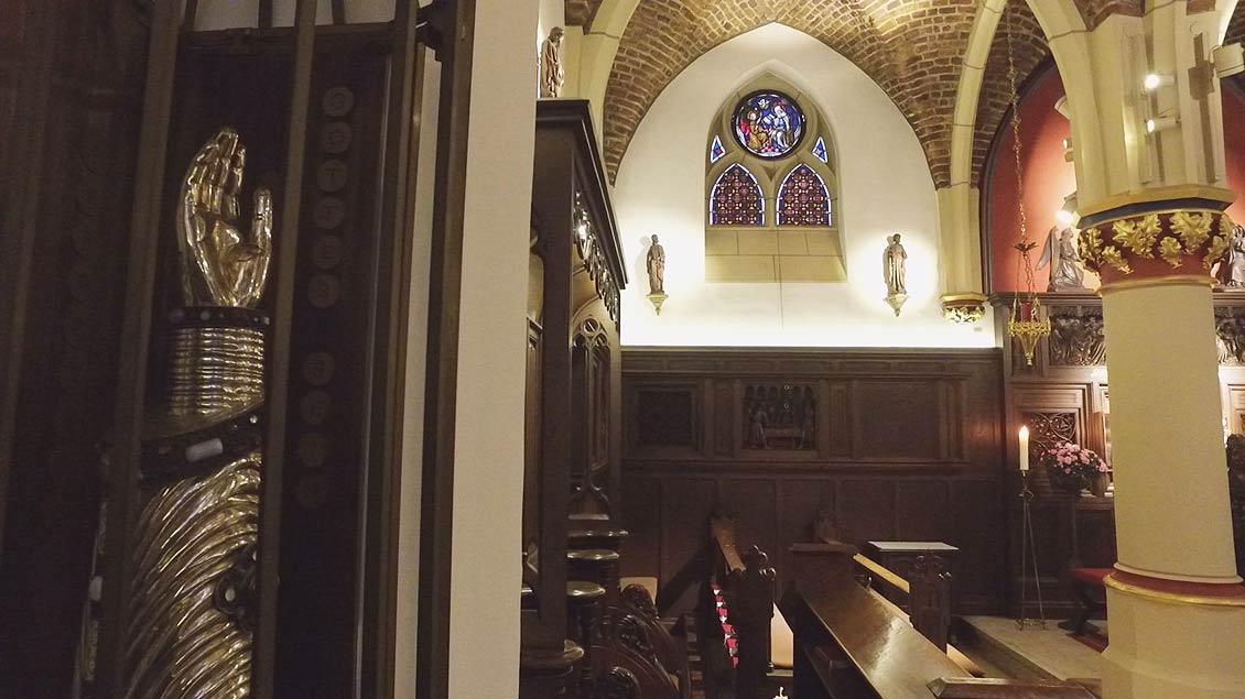 Armreliquiar in der Sakramentskapelle in Kevelaer