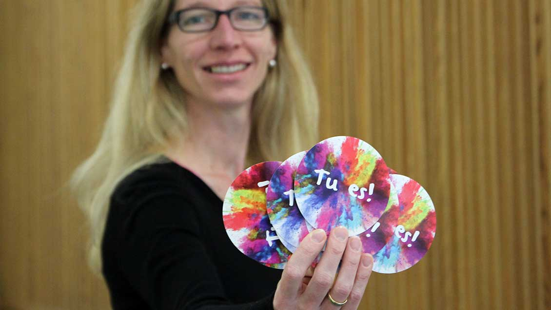 Susanne Deusch, Geistliche Leiterin des BDKJ, wirbt dafür, zur Wahl zu gehen.