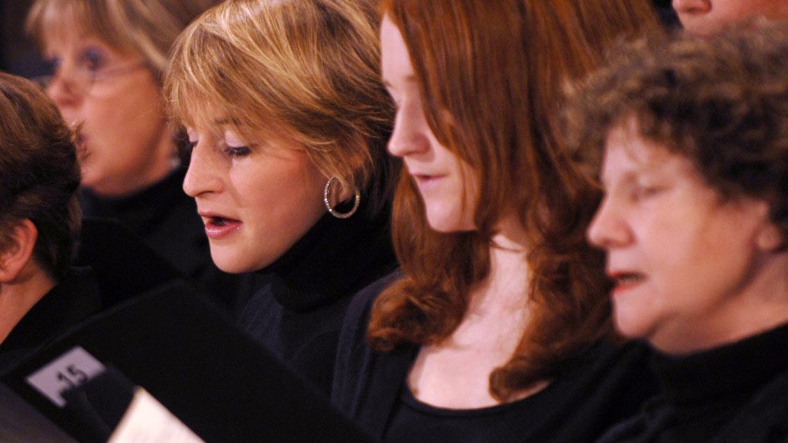 Sängerinnen des Domchors, der auch ein Adventssingen gestaltet.