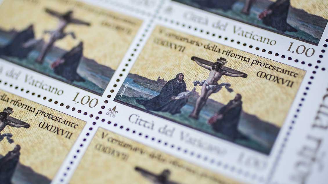 Die neue Vatikan-Briefmarke.