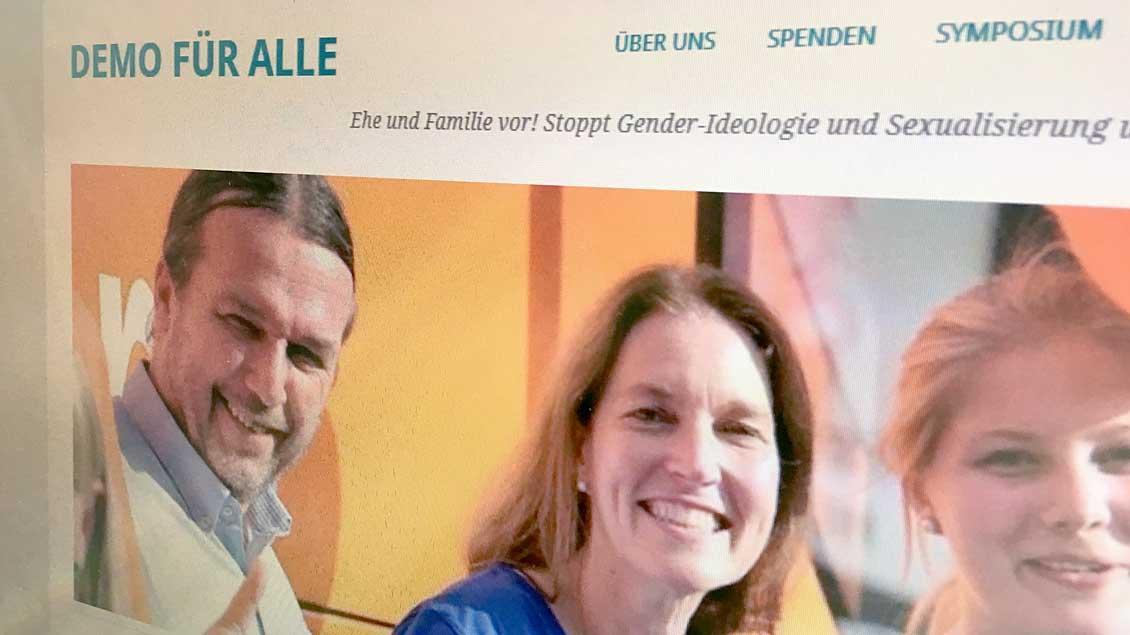 """Internetseite von """"Demo für alle""""."""