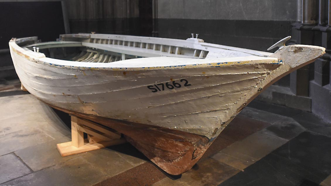 Flüchtlingsboot nun im Haus der Geschichte Foto: KNA