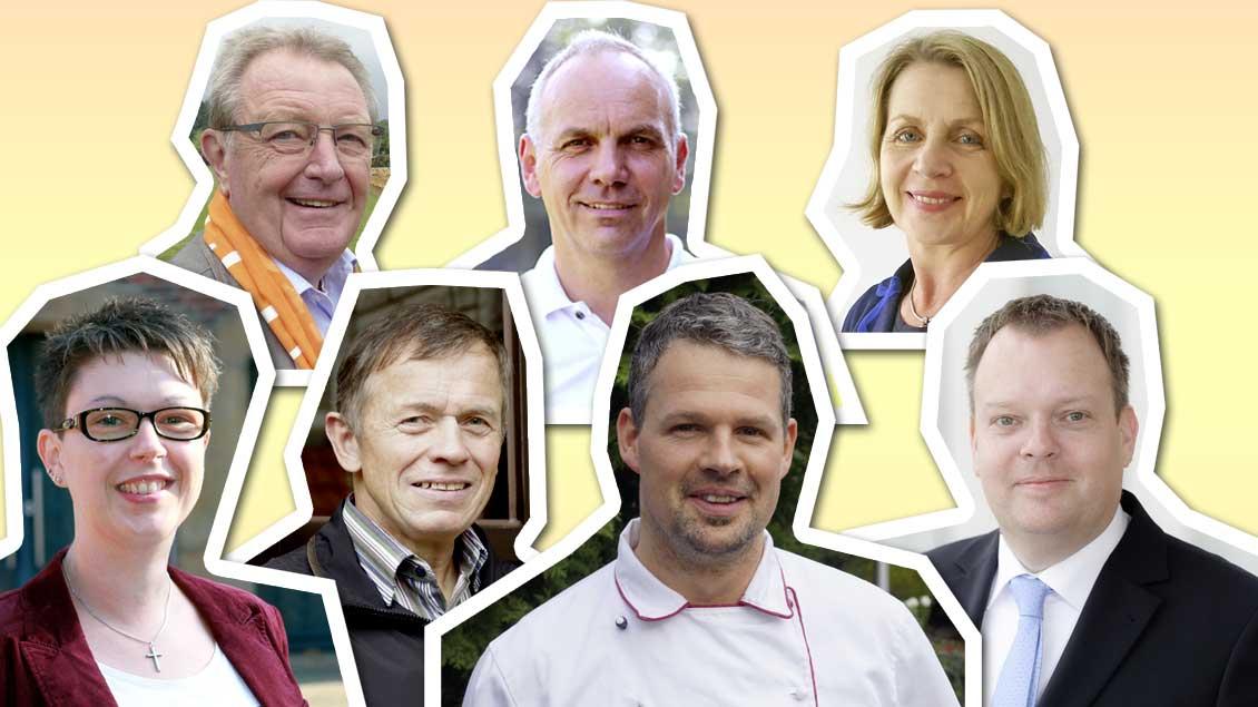 Sieben Kandidaten aus dem Bistum Münster.