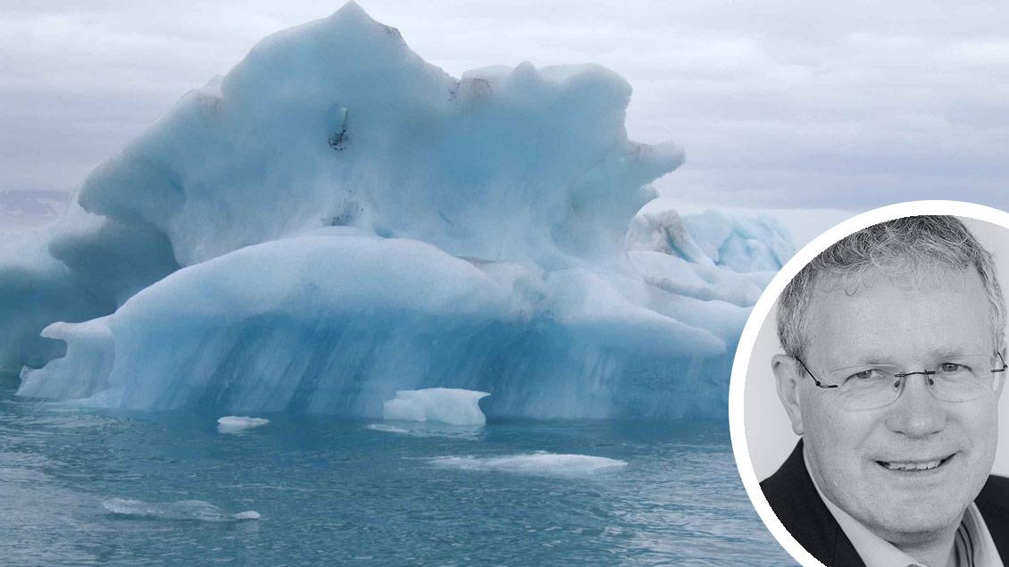 Schmelzende Eisberge sind ein Zeichen für den Klimawandel.