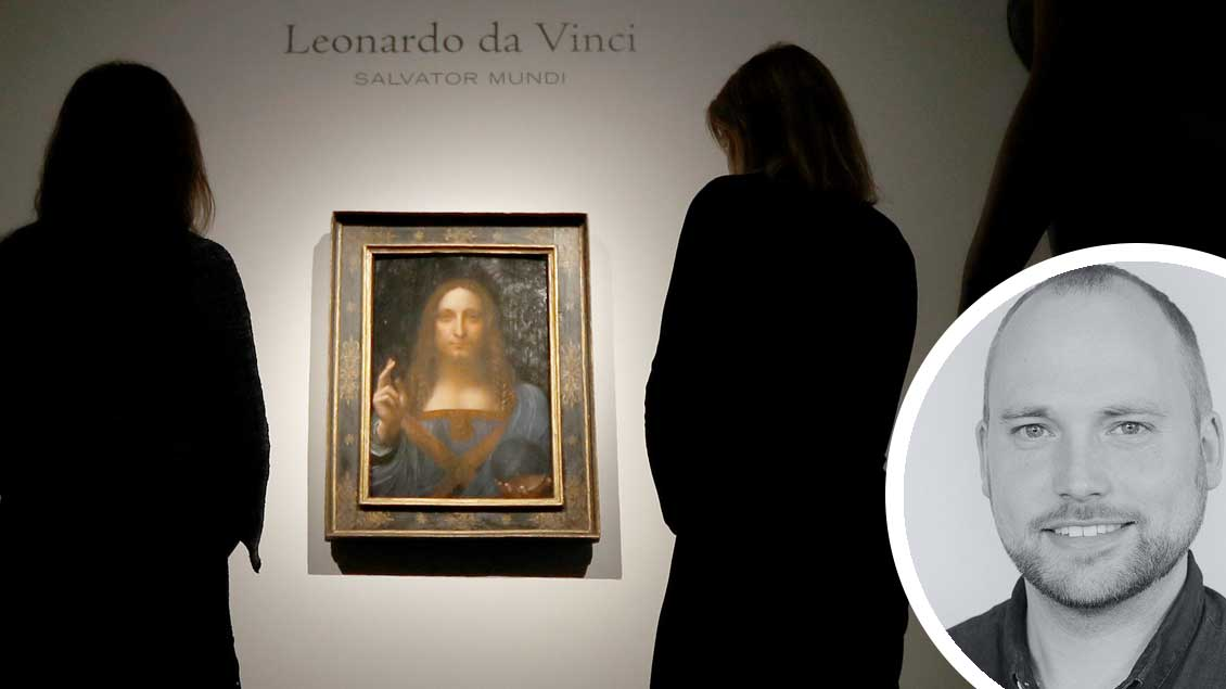 "Das Gemälde ""Salvator Mundi""."
