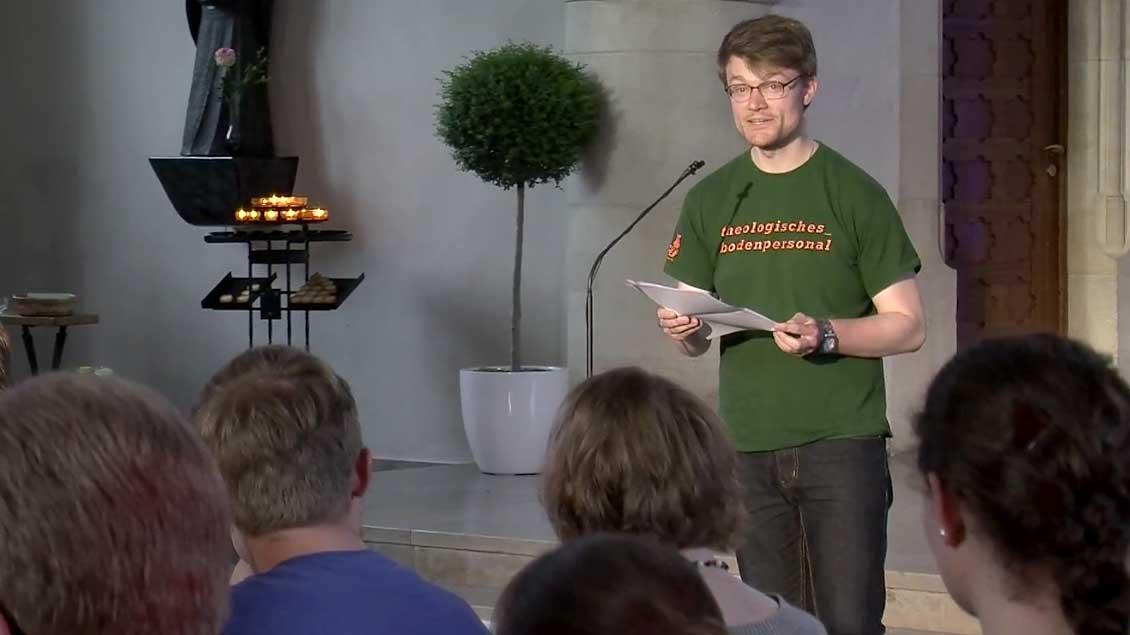Roland war einer der Teilnehmer beim zweiten KSHG-Preacher-Slam.