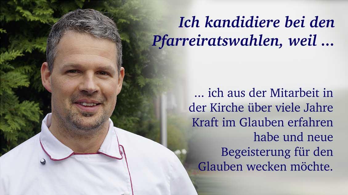 Bernd Voschenpoth (40) aus Lippetal-Herzfeld, Konditormeister.