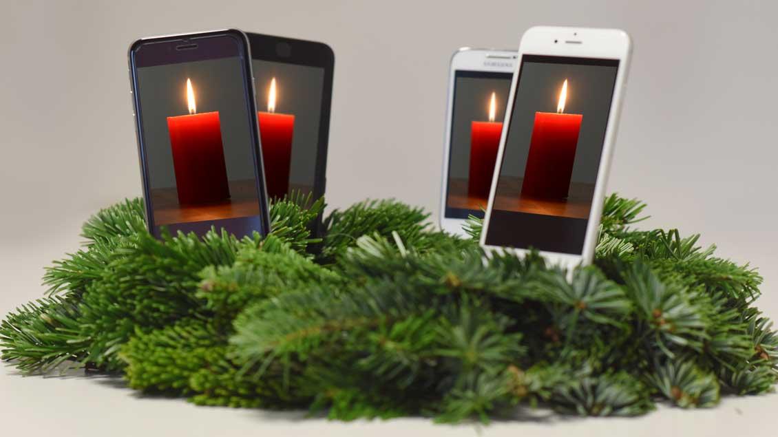 Smartphone-Adventskranz.