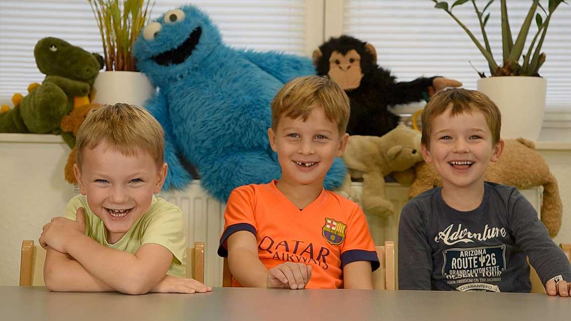 Kinder vom St.-Nikolaus-Kindergarten.