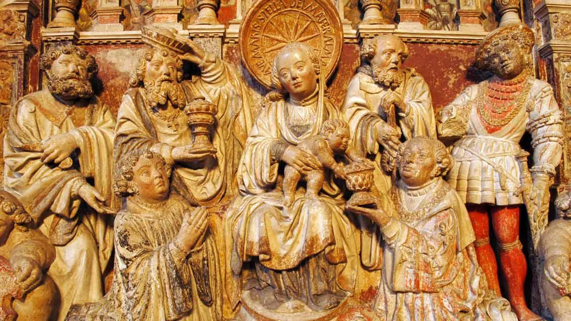 """""""Anbetung der Heiligen Drei Könige"""" im Ostquerhaus des St.-Paulus-Doms Foto: Michael Bönte"""