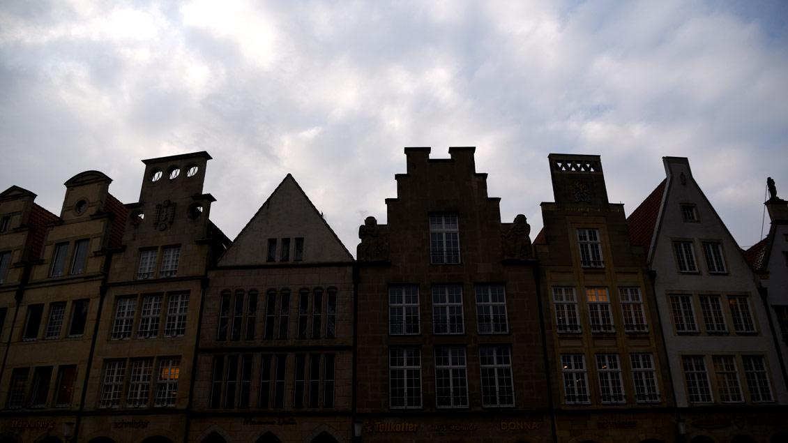 Dunkle Wolken über Münster