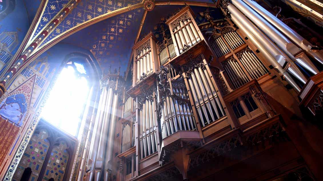 Orgel in der Wallfahrtsbasilika von Kevelaer.