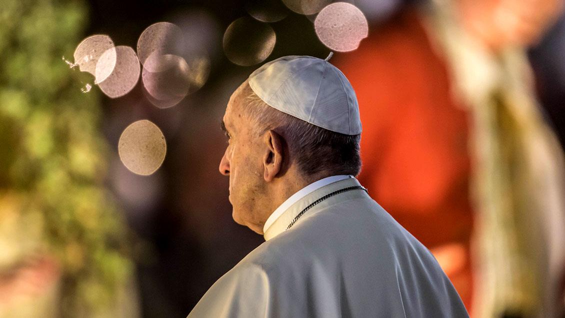 Im Neujahrsgottesdienst ermutigte Papst Franziskus zu Stille und Vertrauen im neuen Jahr. Foto: KNA