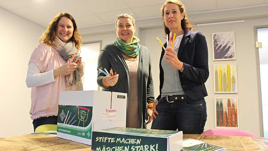 Auch der KFD-Diözesanverband Münster sammelt Stifte. Foto: Annette Saal