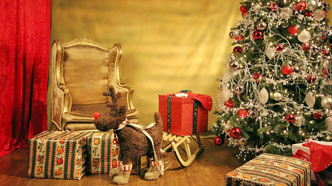 Weihnachtszimmer.