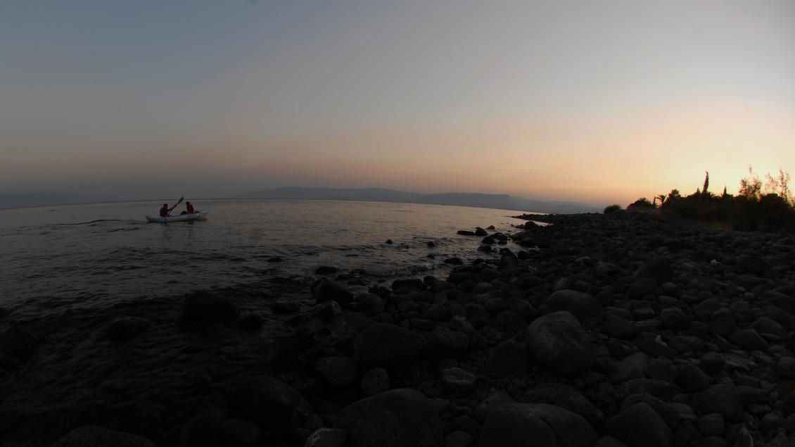 Am See Genezareth, wo Jesus seine ersten Jünger gewann.