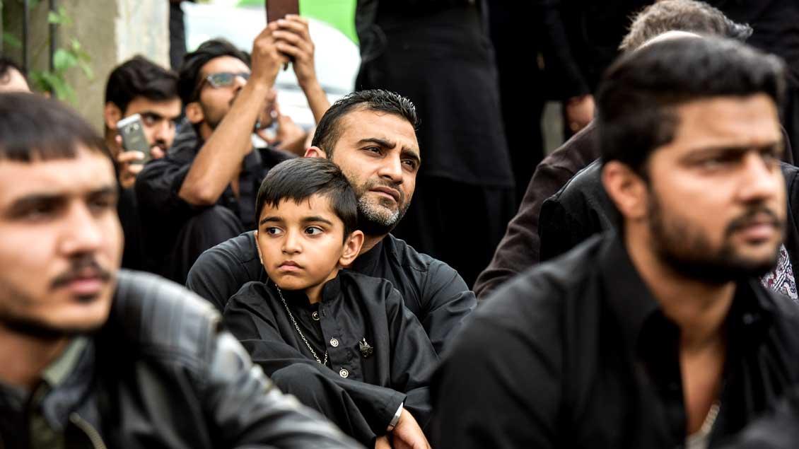 Muslimische Männer in Deutschland. Symbolfoto: KNA