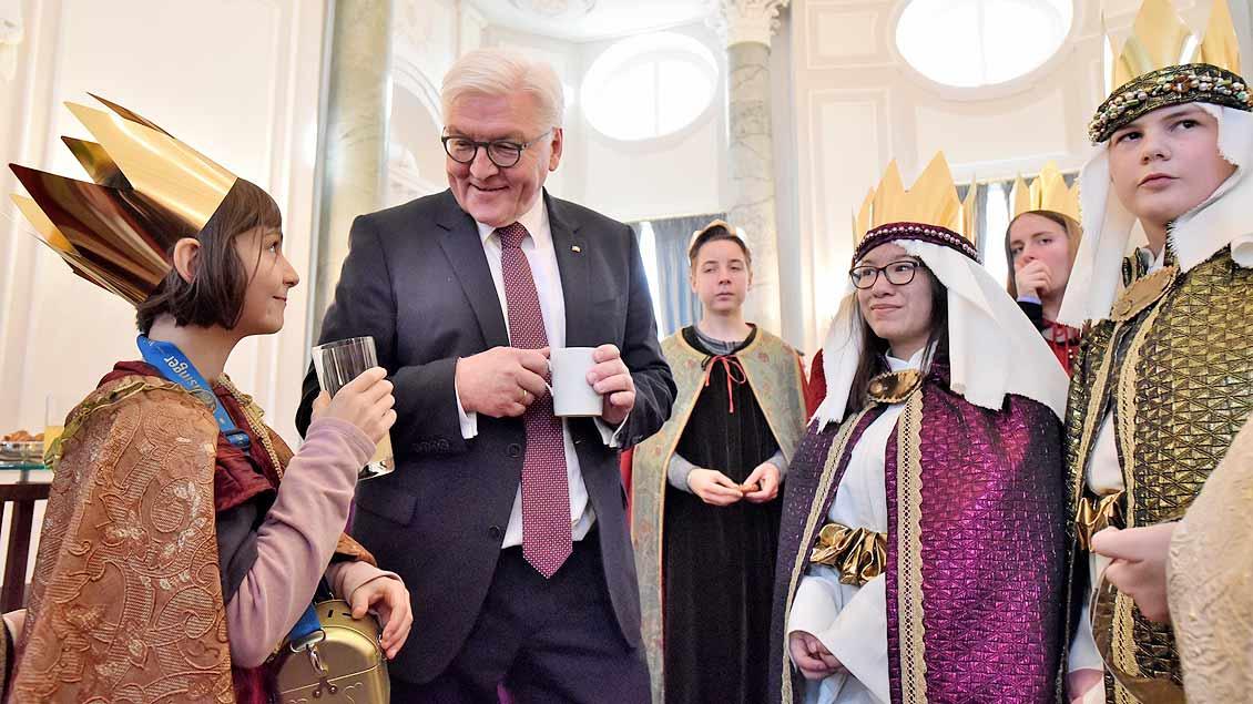 Bundespräsident empfängt die Sternsinger