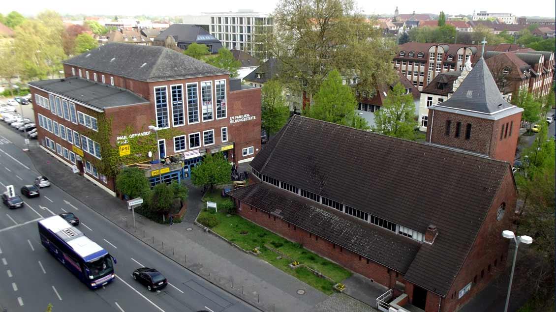 Der Katholikentag Plus findet im Paul-Gerhardt-Haus und in der evangelischen Erlöserkirche nahe dem Hauptbahnhof in Münster statt.
