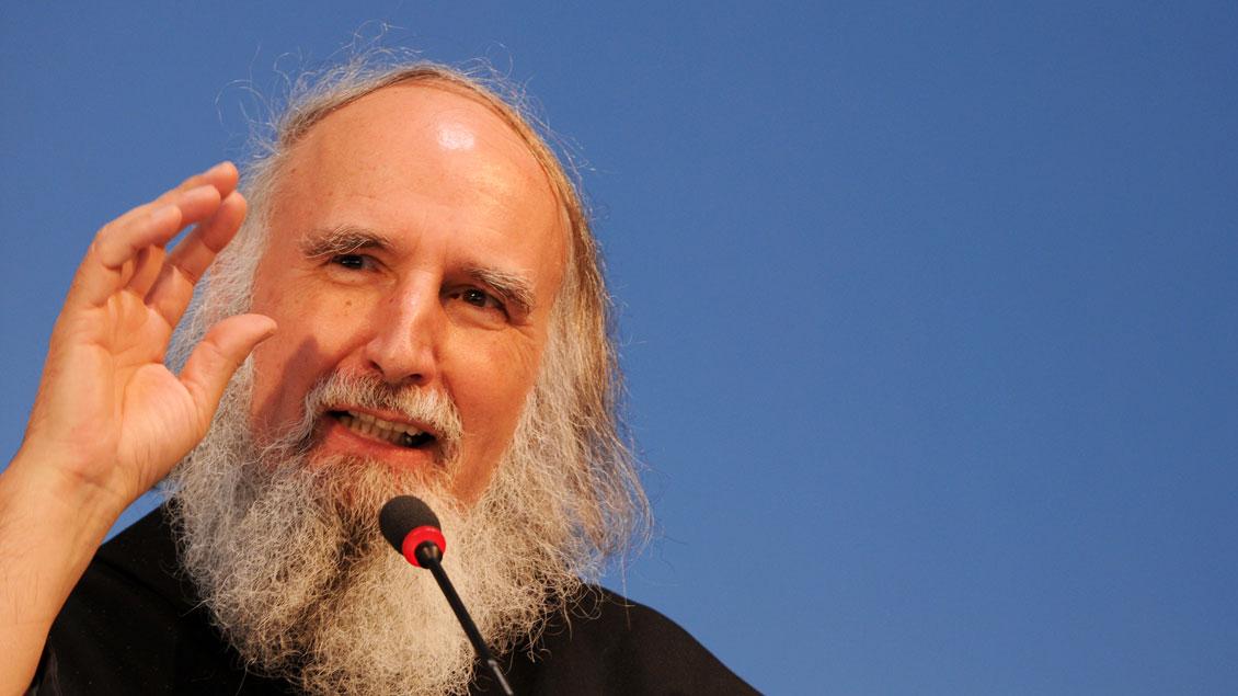 Pater Anselm Grün, Benediktinerpater und Autor. | Foto: Michael Bönte