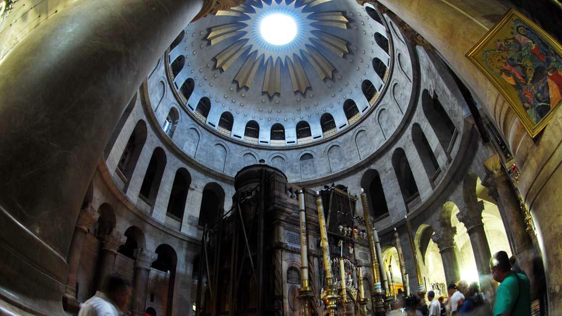 Blick in die Grabeskirche.