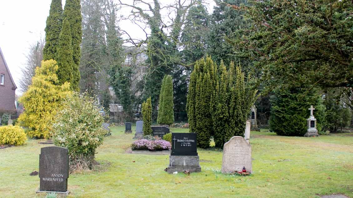 Alter katholischer Friedhof in Münster-Albachten.
